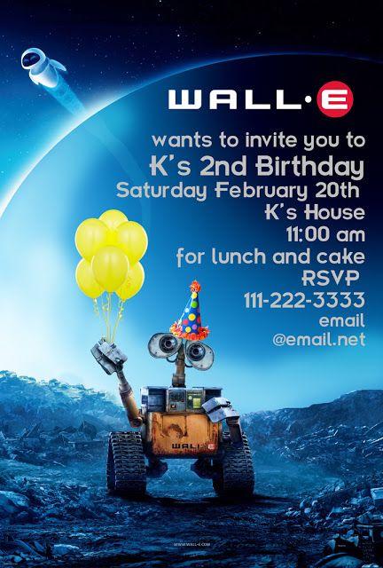 Invite Wall E Man Birthday 3rd Parties Ideas Invitations