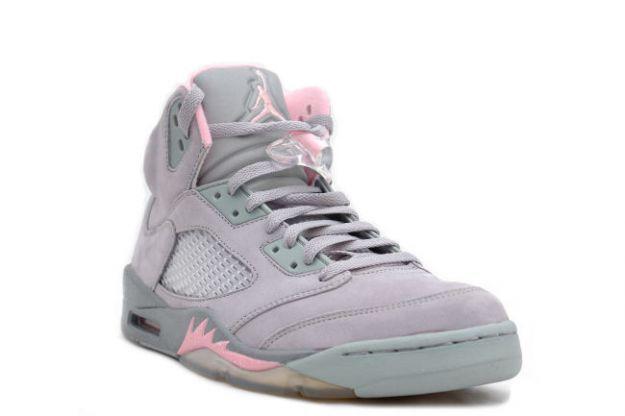 Air Jordan 5 Grey And Pink