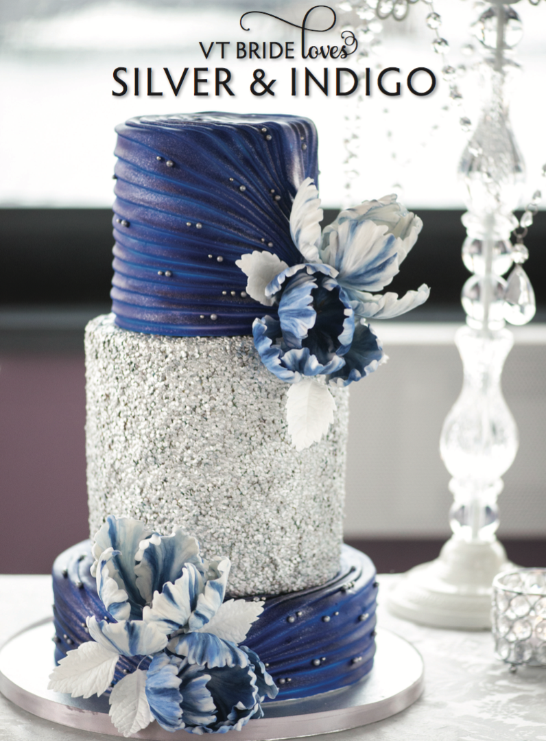 Silver and Indigo wedding inspiration featured in ...