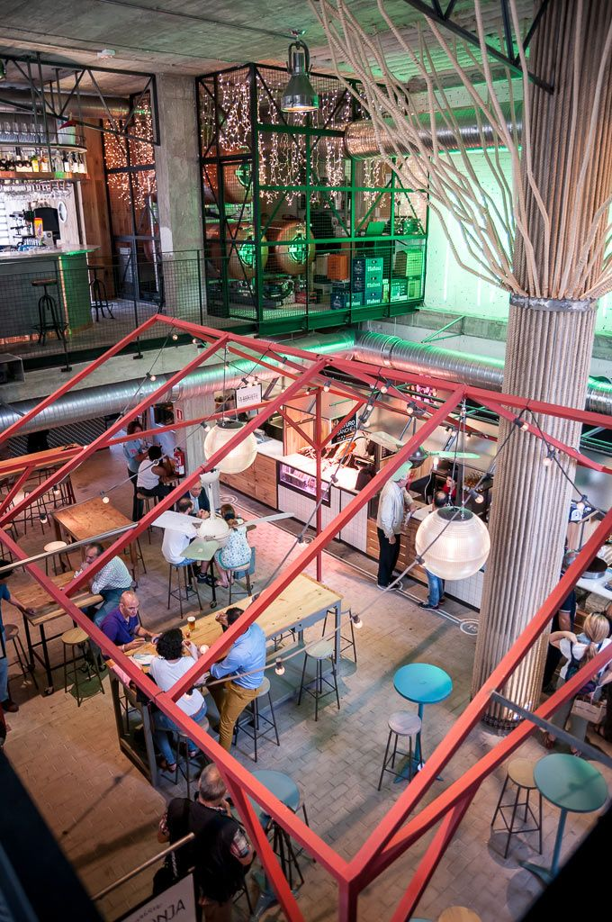 Mercado San Ildefonso Arquitectura Patio Interior Restaurantes