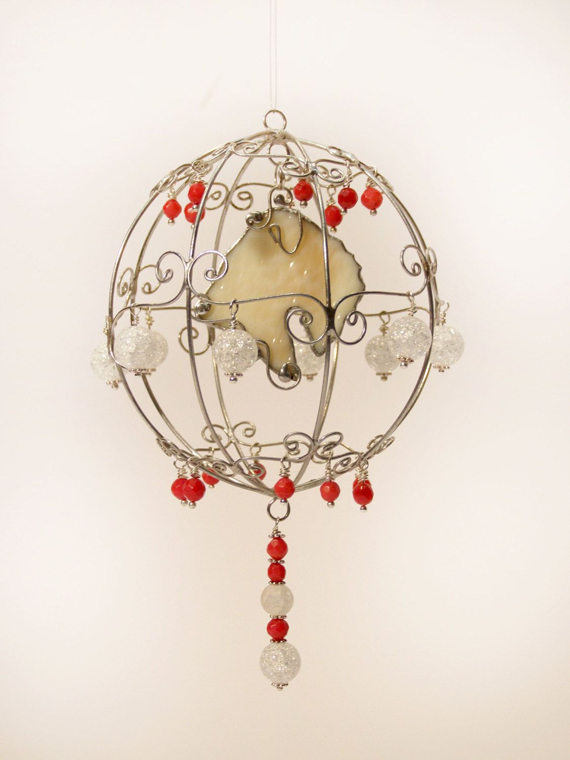 Christmas Ball with Irish Soft Coated Wheaten Terrier Stained Glass ...