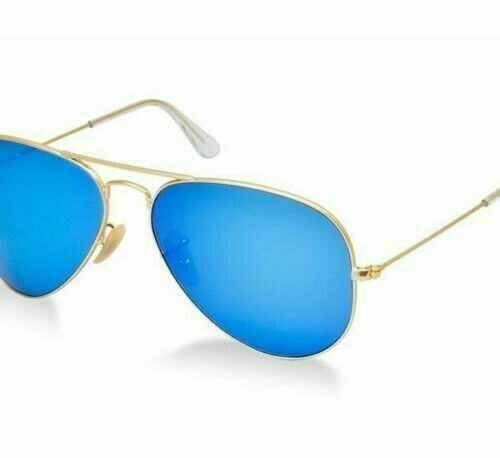 New Ray Ban Sunglasses Aviator Rb3025 112 17 Gold Frame Blue Mirror 58mm Unisex Fashion Clothi Rayban Sunglasses Aviators New Ray Ban Sunglasses Blue Mirrors