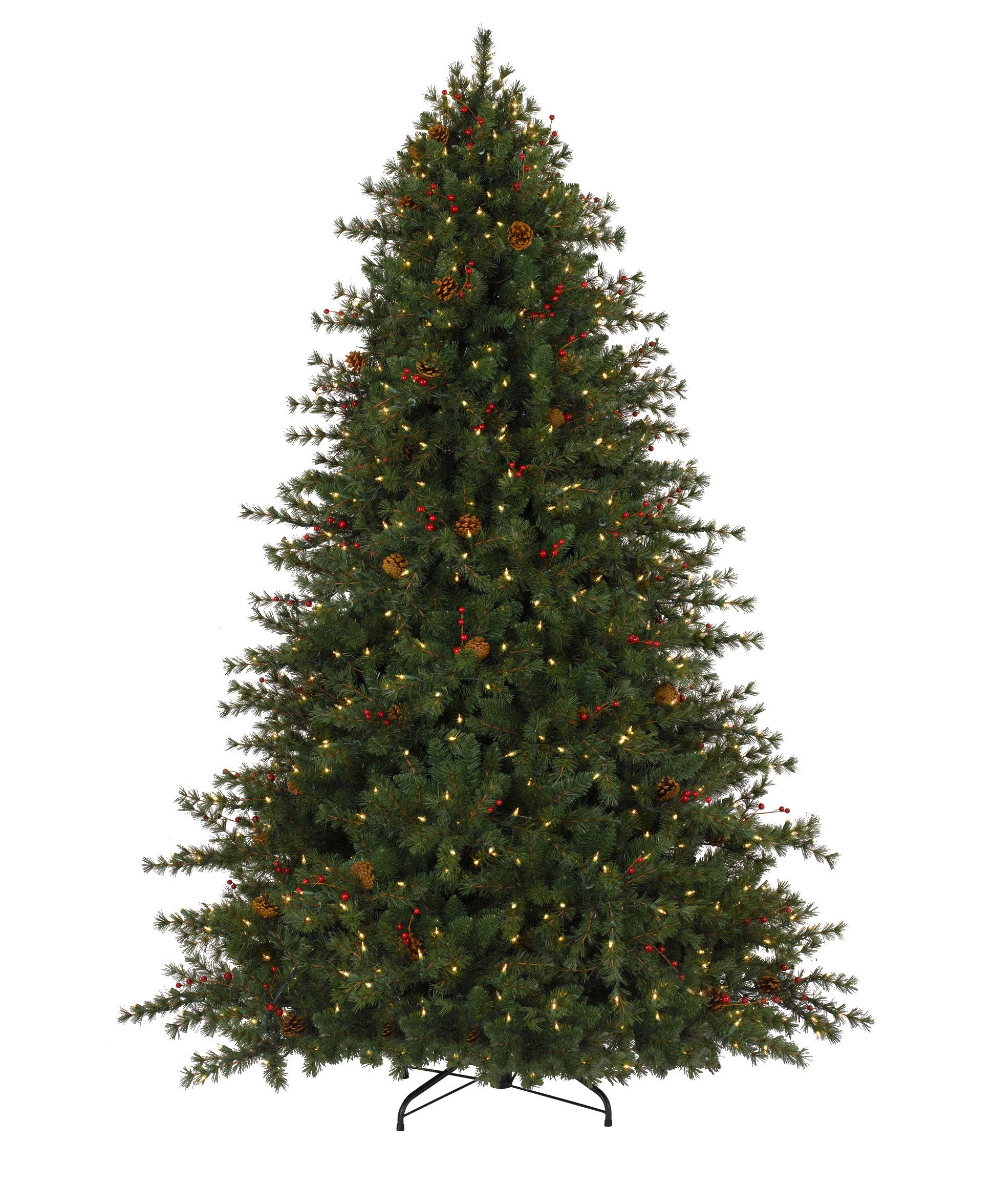 Crestwood small artificial christmas tree with plastic bronze pot - Christmas Tree