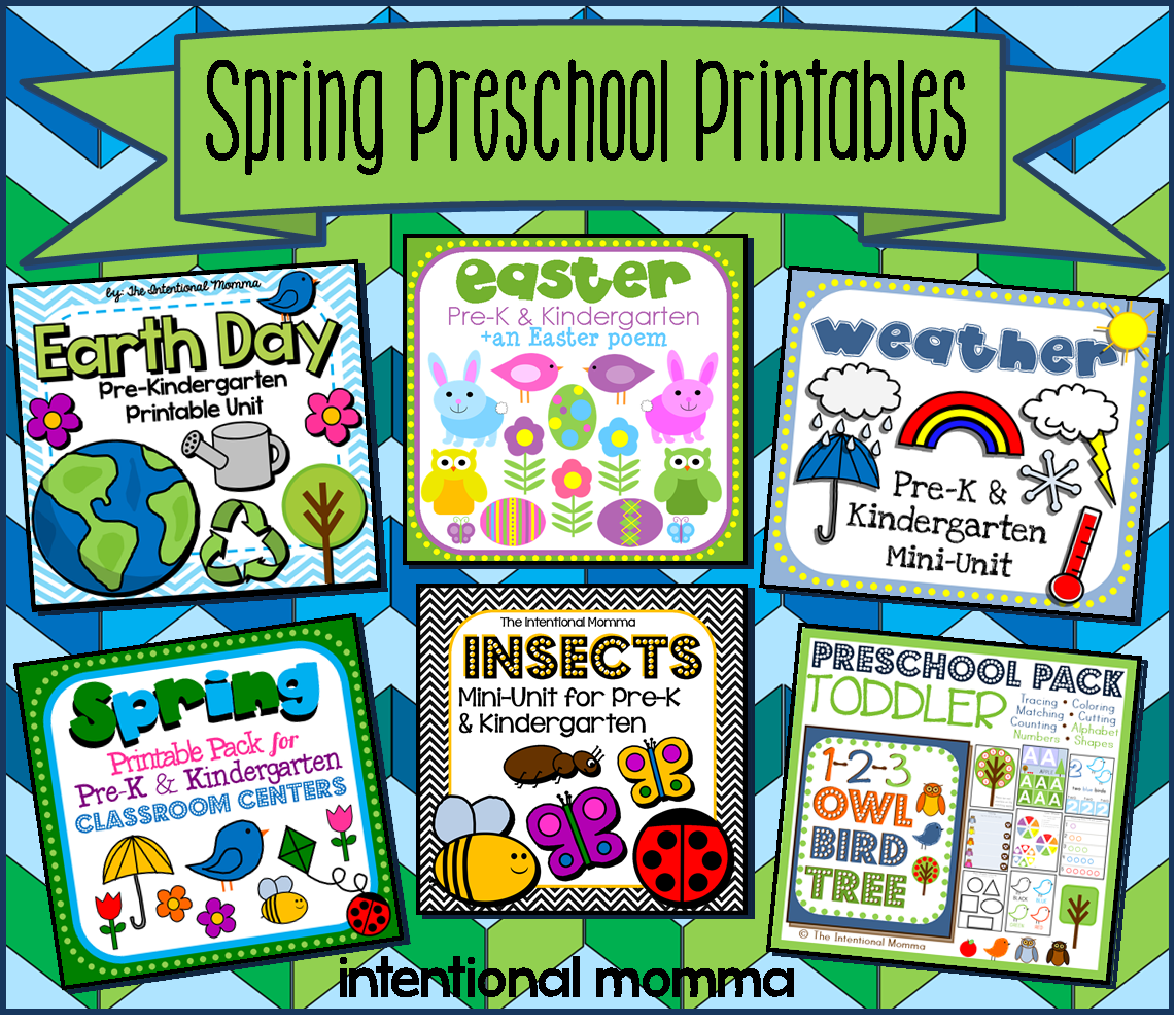 Spring Printable Worksheets Pack For Preschool Pre K