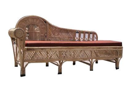 Be Still My Heart Cane Fainting Couch British Colonial West Indies