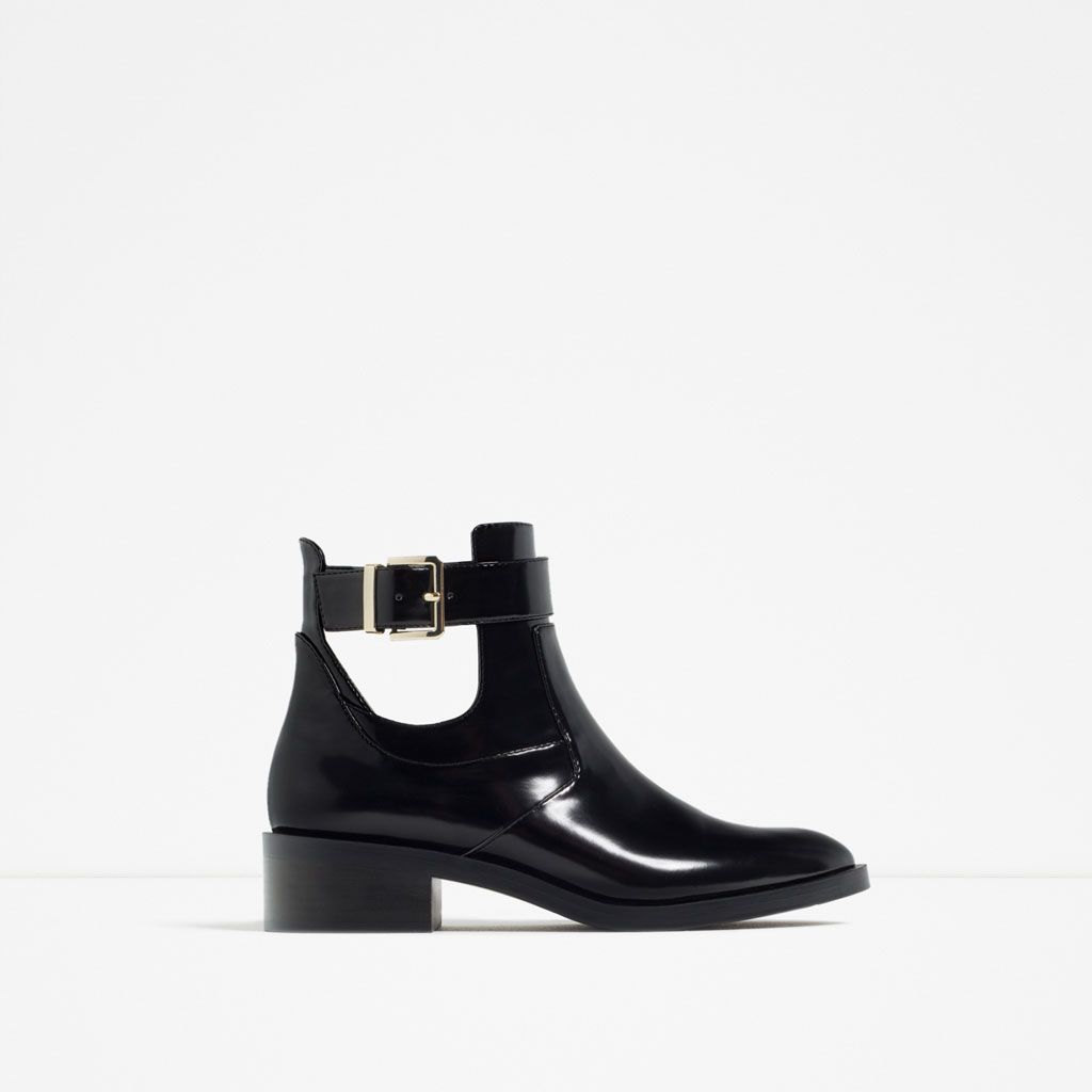 FLAT OPEN ANKLE BOOTS-View all-SHOES-WOMAN | ZARA United States