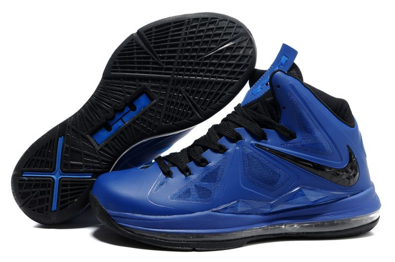 Nike Lebron 10 Shoes Black Navy Blue