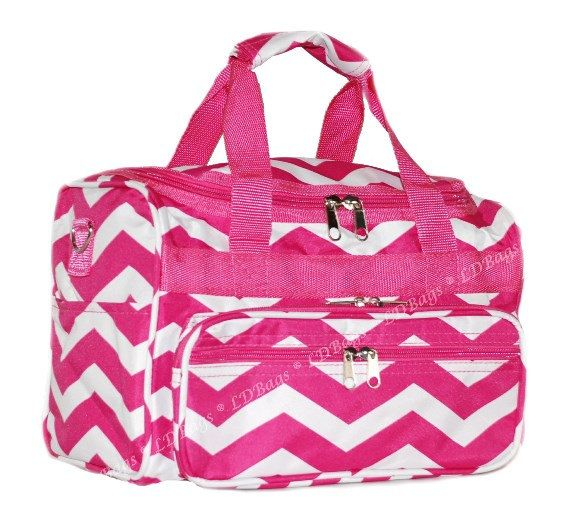 d34b7ff003 Chevron Hot Pink Duffle Gym Cheer Bag 13 Duffel by MonogramExpress ...