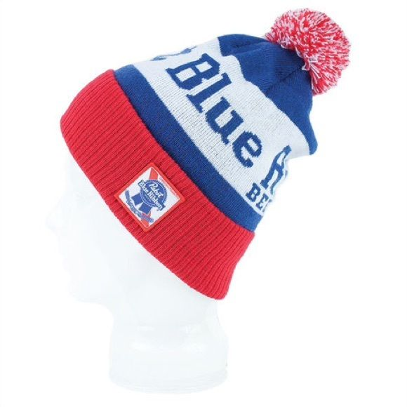 269b301a877 Pabst Blue Ribbon Pom Knit Beanie PBR beanie. Brand new. Pabst Blue Ribbon  Accessories Hats