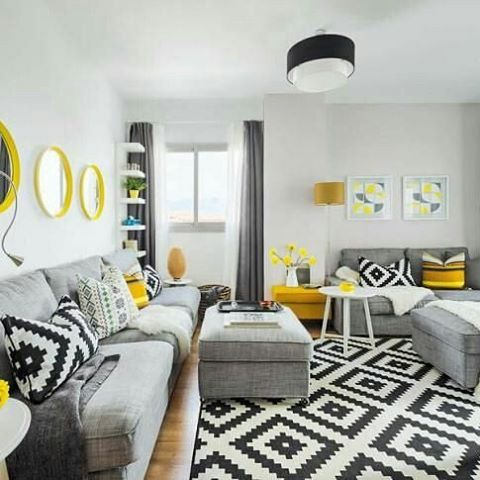r sultat de recherche d 39 images pour salon jaune blanc noir home salon pinterest salons. Black Bedroom Furniture Sets. Home Design Ideas