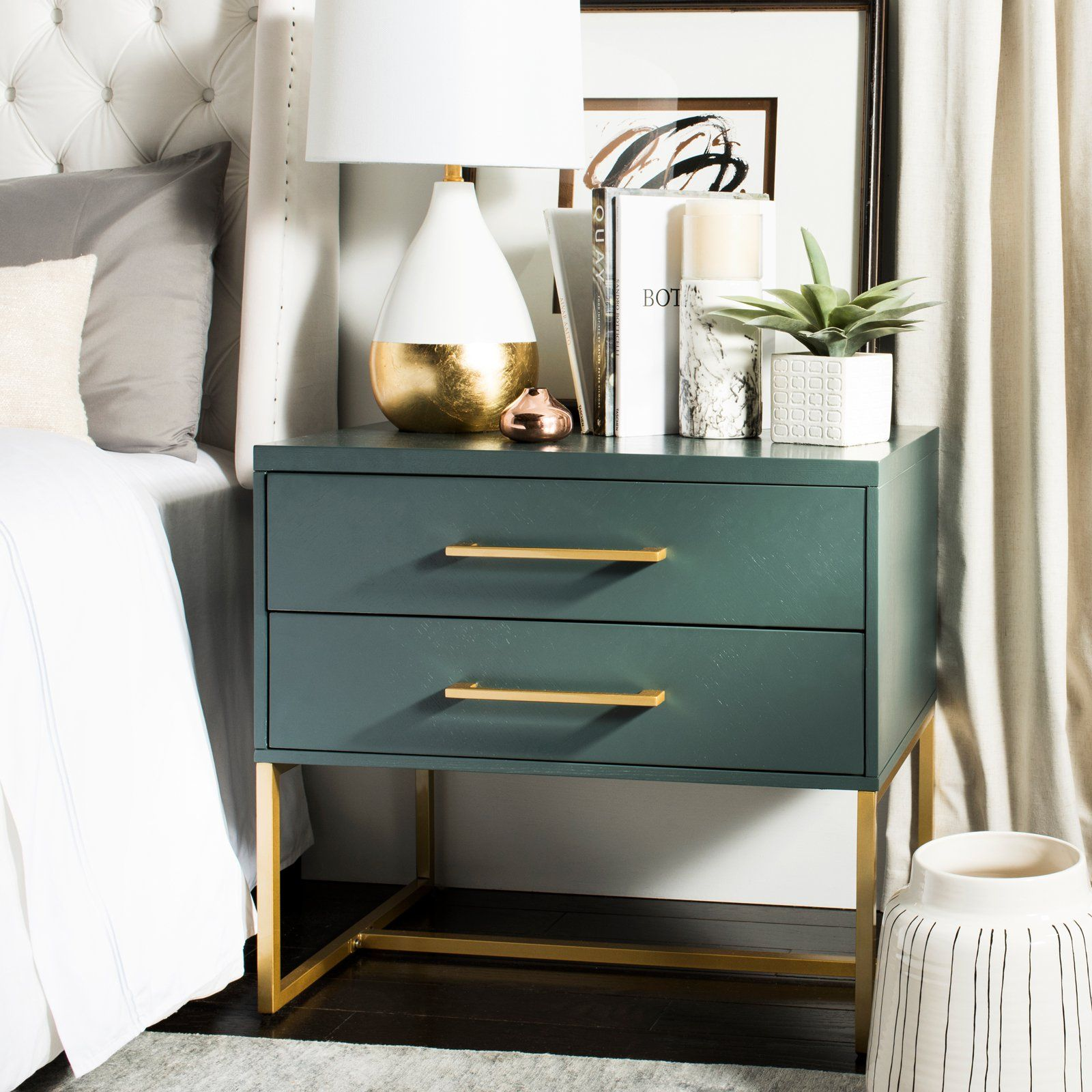 Safavieh Estelle Nightstand From Hayneedle Com Master Bedroom