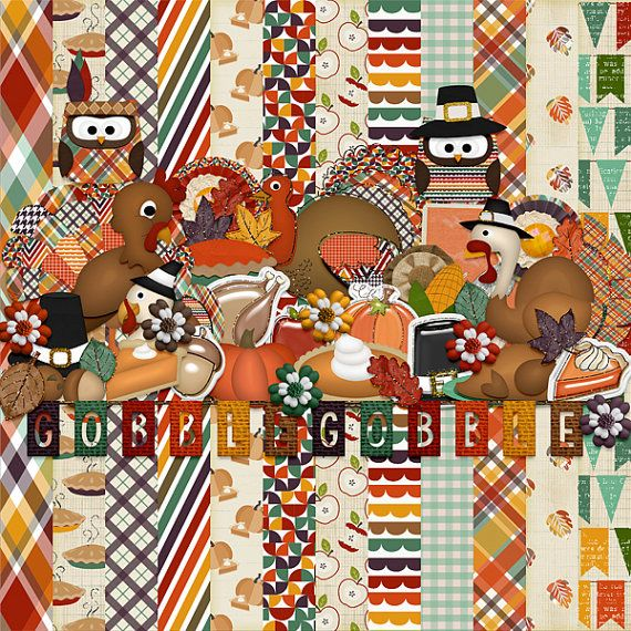 Gobble Gobble by HarperFinchDesigns on Etsy
