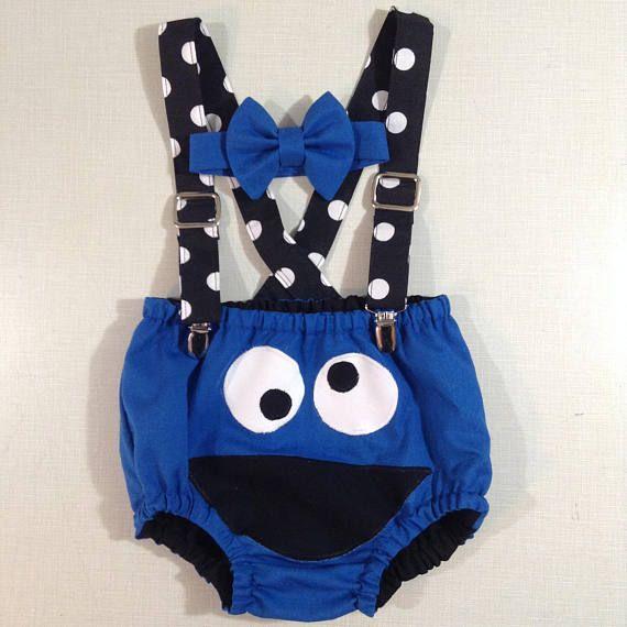 Cookie Monster Cake Smash Set Boys Clothing Boys Birthday