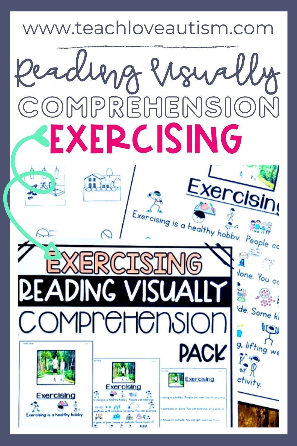 Exercising Reading Visually Comprehension Shop Teach Love Autism In 2021 Special Education Reading Reading Passages Reading Comprehension Activities [ 1500 x 1000 Pixel ]