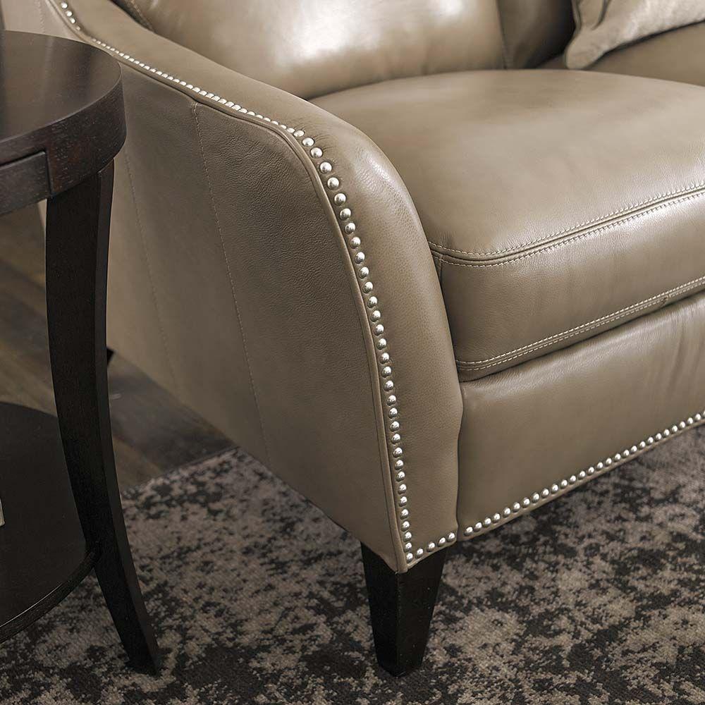 Barrett Leather Sofa By Bassett Furniture
