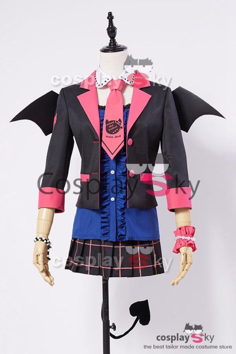 Love Live!  New UR Eli/Eri Ayase Little Demon Uniform Halloween Cosplay Costume