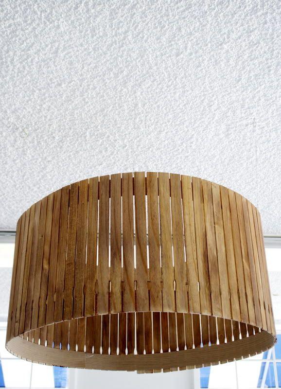 Paint Stir Stick Lampshade Diy Diy Lamp Shade Paint Stirrers Diy Lamp