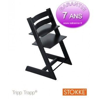 Chaise Haute Tripp Trapp Stokke Noire 7040351001038 Sabanne Puericulture Chaise Haute Chaises Classiques Chaise