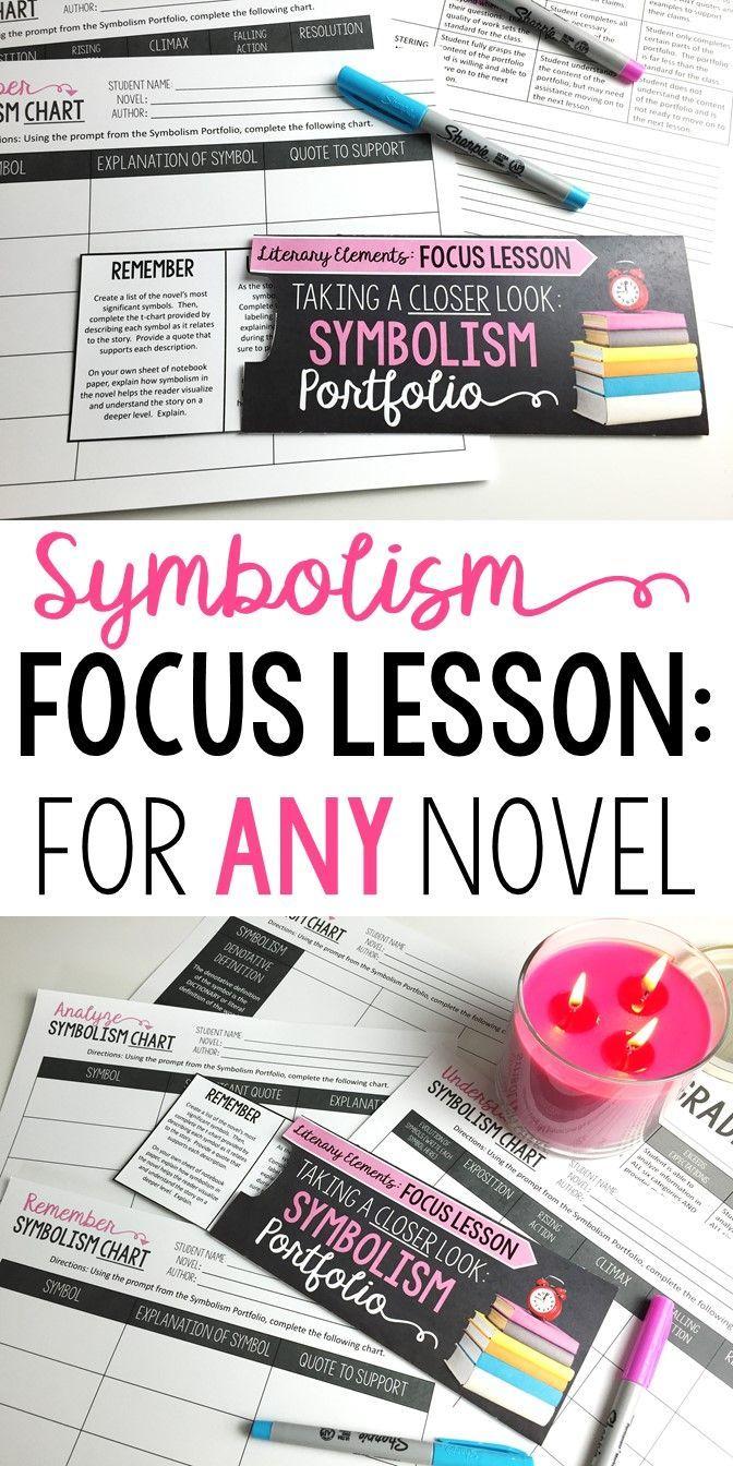 Symbolism Focus Lesson For Any Novel Pinterest Novels Language