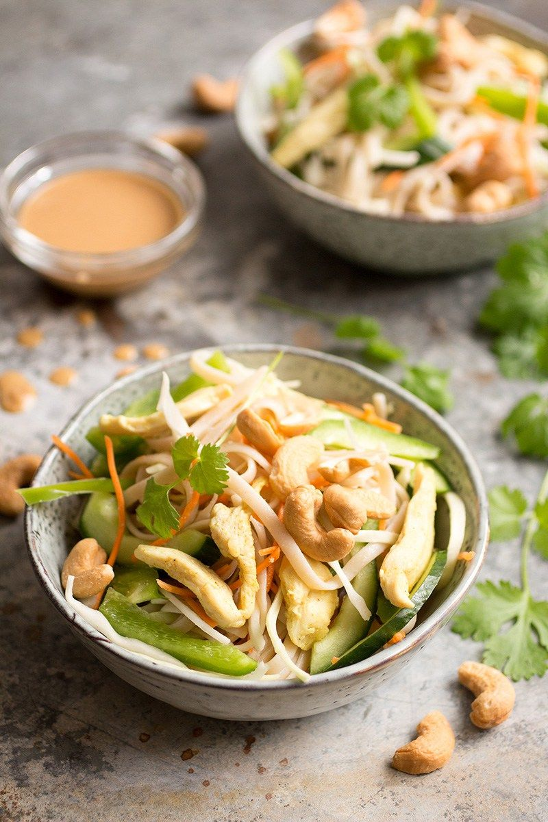 Pinda power noodles (Uit FitFood Made Easy) Voedsel