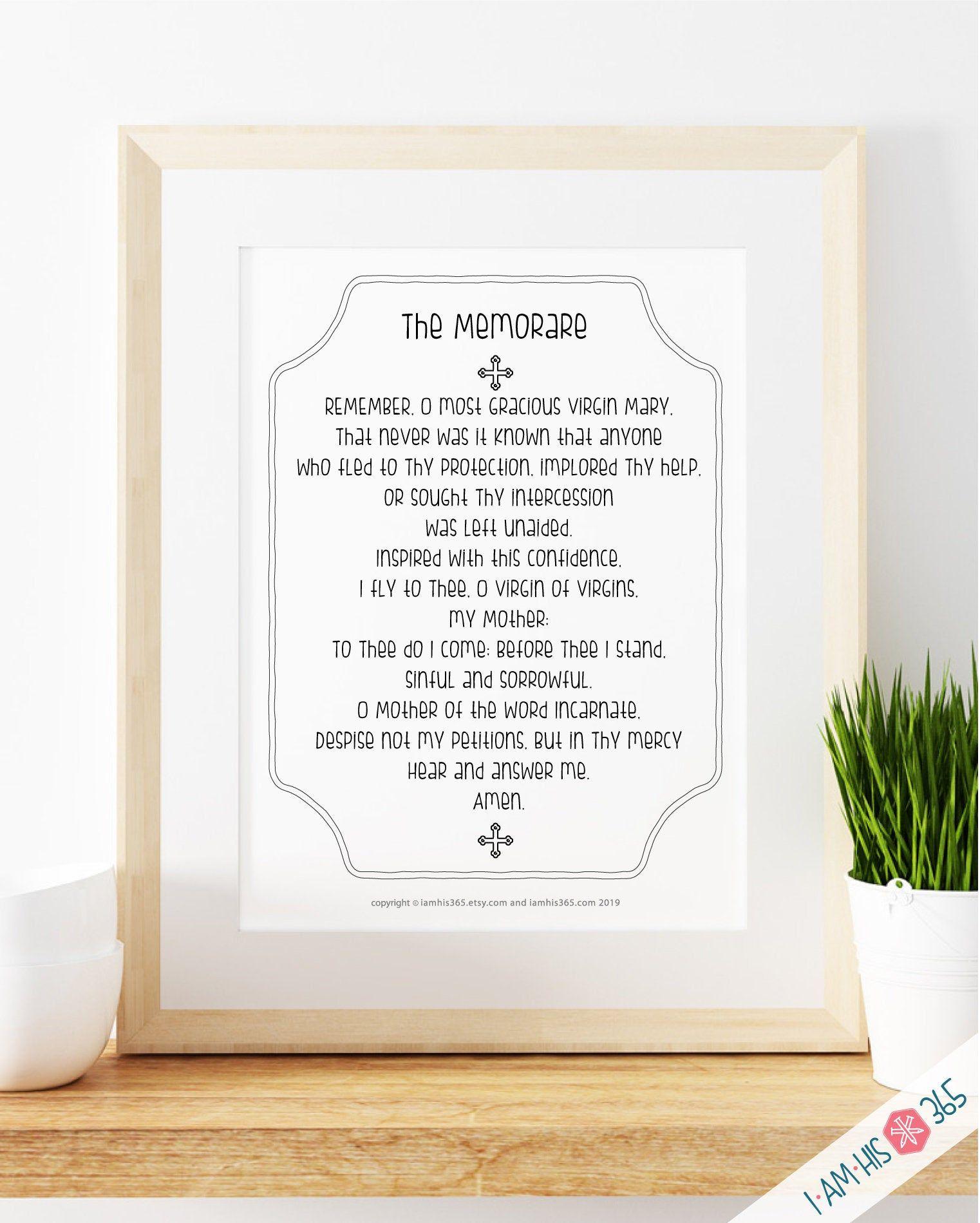 Memorare Prayer Print