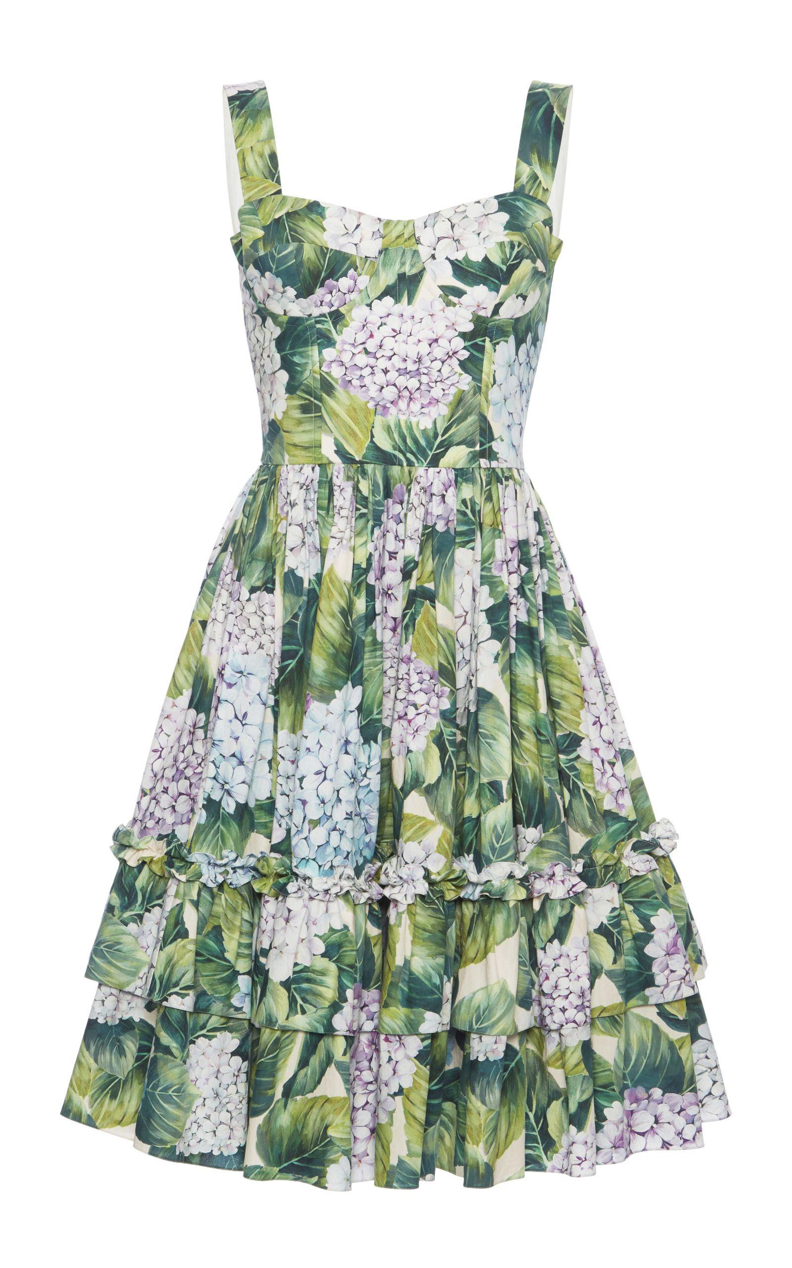 c0f22ef319f Floral-Print Cotton Dress by DOLCE   GABBANA Now Available on Moda Operandi