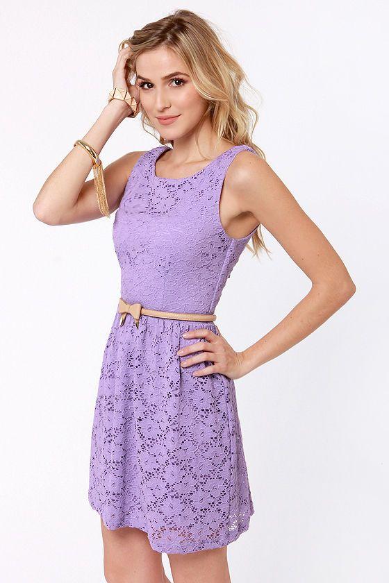 Lavender Lace Dress