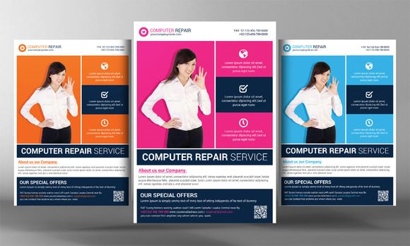 Check out Computer Repair Flyer Template by Corporate Flyers - computer repair flyer template