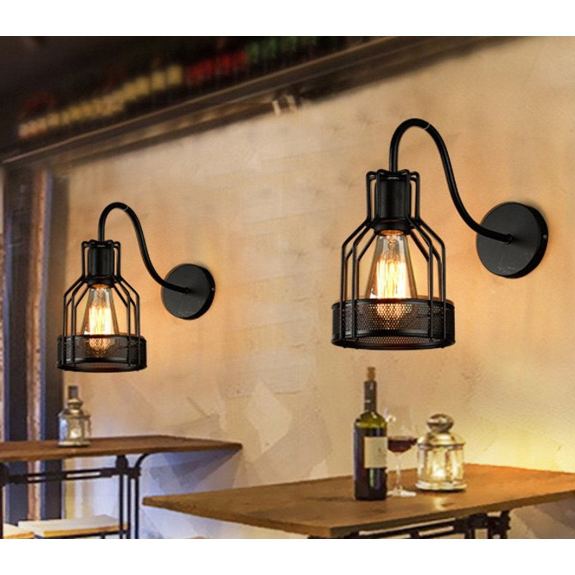 Retro Black Wall Sconce Lighting Gooseneck Barn Flat Lights Industrial Vintage Farmhouse Wall Lamp Outside Led Light Fixtures Set Of Two Hardwired Walmart Com Farmhouse Wall Sconces Farmhouse Light Fixtures Wall
