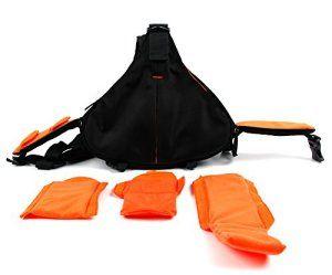 Petit sac à dos Noir / Orange triangle pour VTIN Caméscope Sportive UHD avec Capteur Sony IMX117 Exmor R – caméra embarquée – multi-poches…