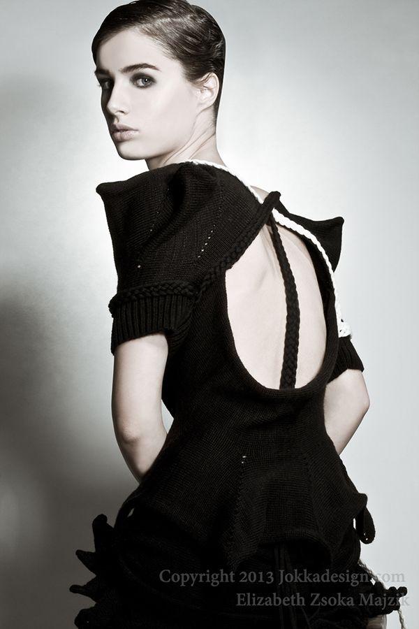 Black knitwear collection  Elizabeth Zsoka Majzik by JOKKAdesign 100%Wool