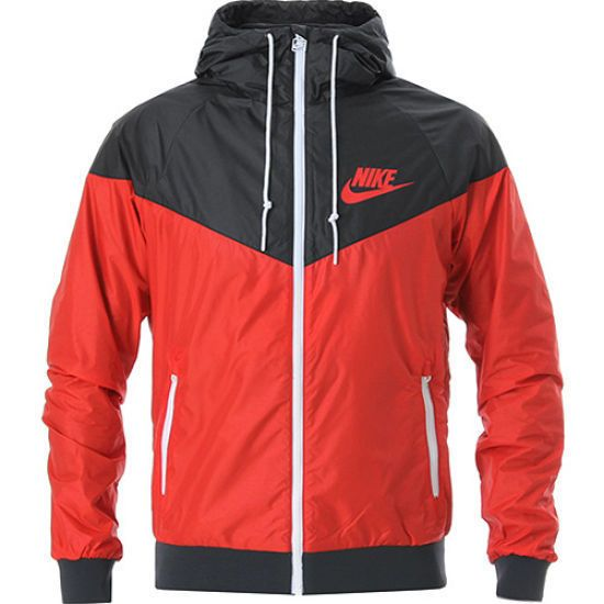 e7a27c78cac3 Nike WindRunner Men s Jacket Windbreaker Hoodie Red Black 544120 657 ...