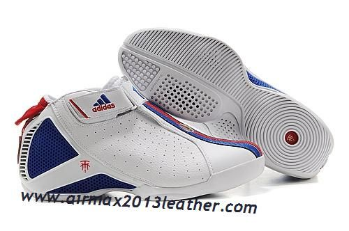newest e6262 21193 Adidas T-Mac 4 Tracy McGrady Shoes White Blue Red Discount Nike Air Max Mens