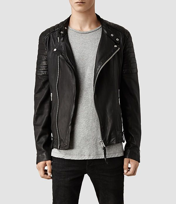 cffa20cff Jasper Leather Biker Jacket | shit i'd wear | Black leather biker ...