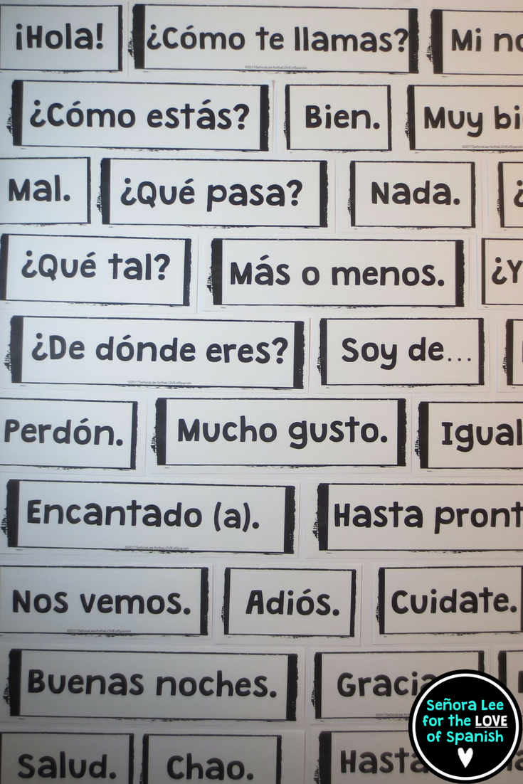 Spanish greetings word wall pared de palabras teaching spanish greeting word wall 53 greetings farewells and expressions of courtesy must have visual resource instant comprehensible input m4hsunfo