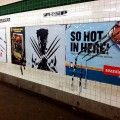 "Vandal ""improves"" Wolverine subway ad by defacing neighboring ads"