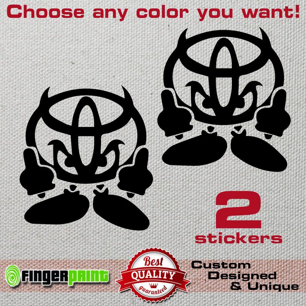 Devil toyota jdm decal vinyl sticker trd yaris supra starlet gt corolla aygo 4x4 fingerprintdesign