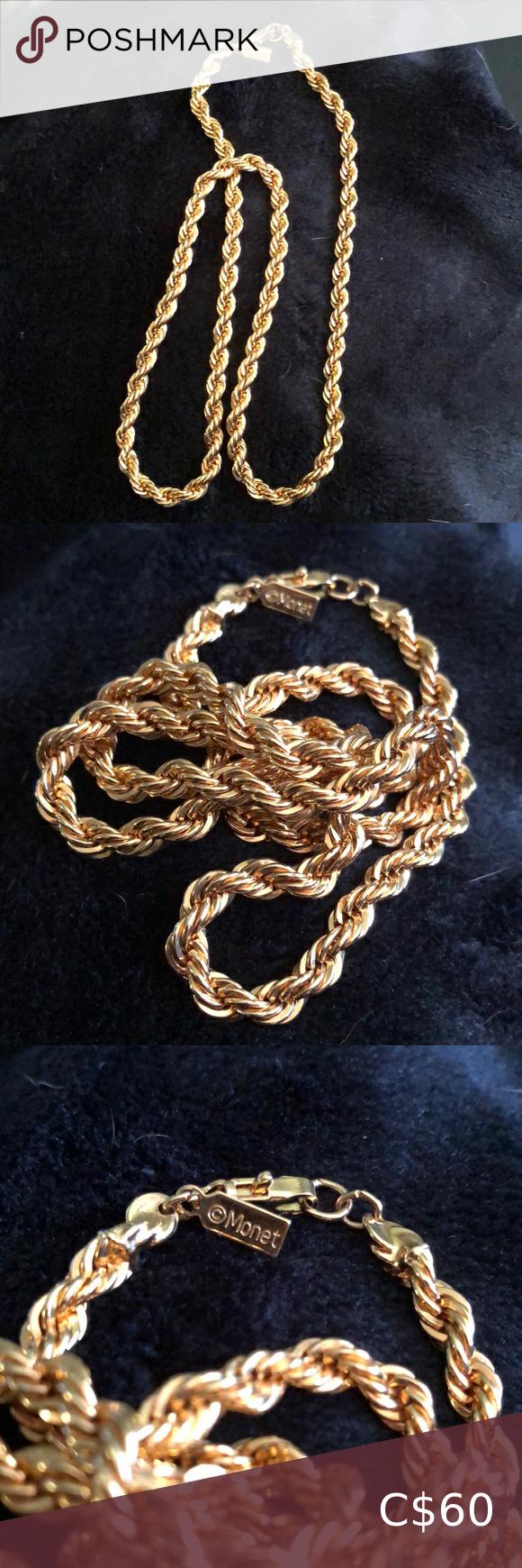 Monet gold chain Vintage