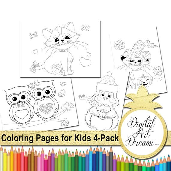 Coloring Pages For Kids Page PDF JPG Cat