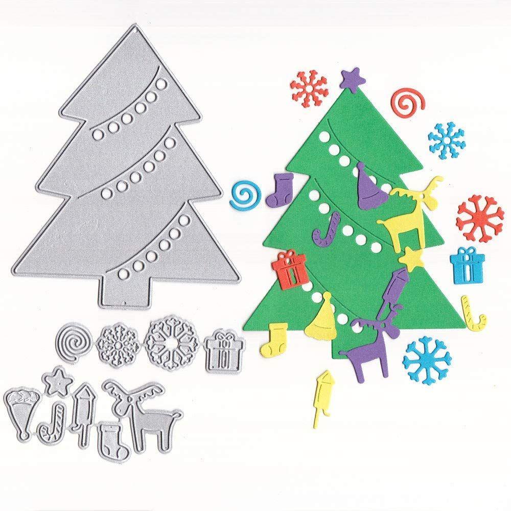 Christmas Tree Metal Cutting Dies Stencils Scrapbook Embossing Card Crafts Decor