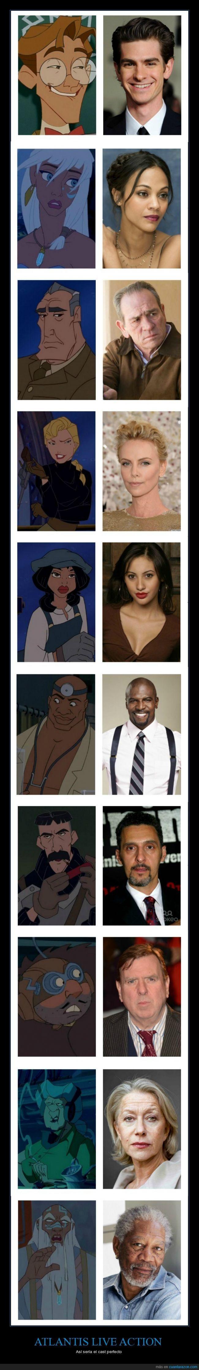 Os Acordais De Atlantis Asi Seria El Cast Perfecto Fun Bilder Disney Zeichnungen Zeichentrick