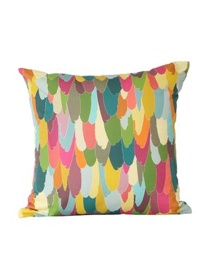 RECEPTION: Harlequin Feather Cushion $45. Love this. would just need 1