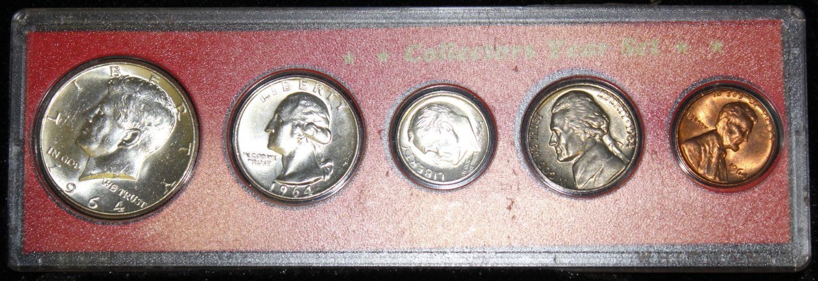 1964 Choice Brilliant Uncirculated Philadelphia Mint Silver Year Set