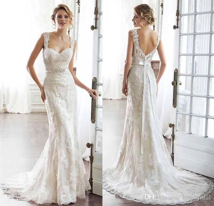 Choose 2015 Romantic Illusion Lace Wedding Dress Sweetheart With - Romantic Lace Wedding Dress