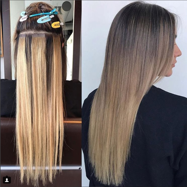Experience the Smart Tabs Tape In Hair Extensions by The Hair Shop. This  beautiful application is featured by  bribrancato. Smart Tabs have the  thinnest ... e421aa55d