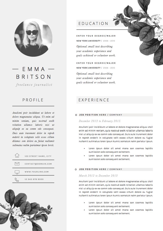 Resume Template 5 Page Pack Petal Lebenslauf Lebenslauf Ideen Bewerbungsmappe