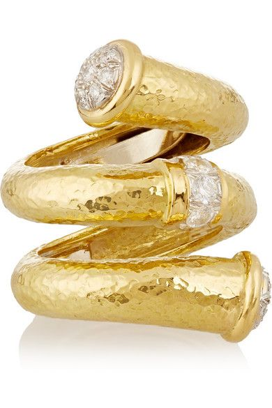 David Webb Double tip Nail Ring.  Be inspired and shop now: http://rstyle.me/n/ufzdwbgbrf