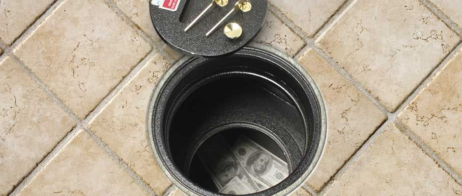 Floor safes for the home floor safes hidden spaces for Hidden floor safe
