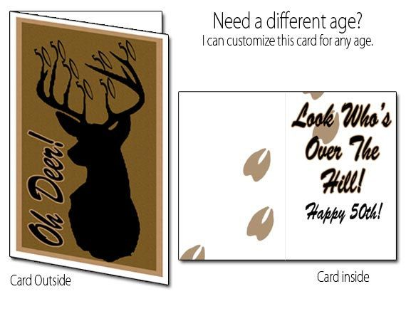 Printable birthday card deer hunting 40th 50th 60th 70th via items similar to printable birthday card deer hunting 40th 50th 60th 70th on etsy bookmarktalkfo Image collections