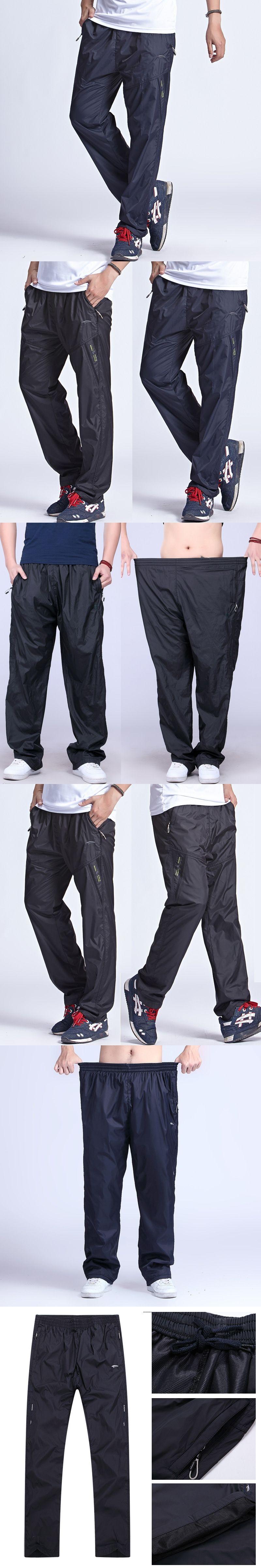 2a73cfa8450 Plus Size 6XL Men s Active Pants Outside Inner Line Long Men Quick Dry  Pants Active Elastic Waist Sweatpants Men Exercise Pants
